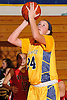 Melanie Hingher #24 of Massapequa shoots from close range during a Nassau County Conference AA-I varsity girls' basketball game against Syosset at Massapequa High School on Friday, Jan. 15, 2016. She recorded 19 points and 10 boards in Massapequa's 60-33 win.