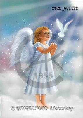 Isabella, CHRISTMAS CHILDREN, angels, paintings, angel, dove(ITKE541452,#XK#) Engel, angeles