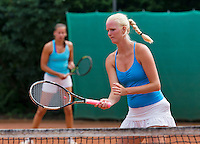 August 13, 2014, Netherlands, Raalte, TV Ramele, Tennis, National Championships, NRTK,  Ladies doubles: Charlotta van der Meij and Erika Vogelsang<br /> Photo: Tennisimages/Henk Koster