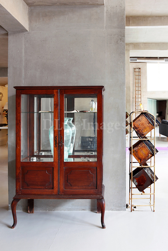 classic wooden showcase