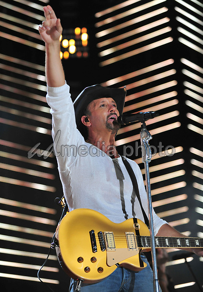 10 June 2010 - Nashville, Tennessee - Tim McGraw. 2010 CMA Music Festival Nightly Concert held at LP Field. Photo Credit: Laura Farr/AdMedia