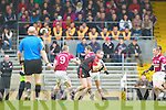 Kenmare's Jimmy Wharton leaves  Rockchapel midfielders Den Joe O'Callaghan and John Doody in his wake during their Munster Club Champiionship semi final in Fitzgerald Stadlium on Sunday