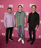 BEVERLY HILLS - AUGUST 6:  Andy Serkis, Joe Alwyn and Guy Pearce at the FX Networks Star-Walk red carpet at the Summer 2019 TCA Press Tour at the Beverly Hilton on August 6, 2019 in Los Angeles, California. (Photo by Scott Kirkland/FX Networks/PictureGroup)