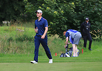 JR Galbraith (AM)(IRL) and his caddy on the 10th fairway during Round 1 of the Northern Ireland Open at Galgorm Castle Golf Club, Ballymena Co. Antrim. 10/08/2017<br /> Picture: Golffile | Thos Caffrey<br /> <br /> <br /> All photo usage must carry mandatory copyright credit     (&copy; Golffile | Thos Caffrey)