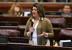 Nevada Assemblywoman Teresa Benitez Thompson, D-Reno, speaks during Assembly floor debate at the Legislative Building in Carson City, Nev., on Sunday, May 31, 2015.  <br /> Photo by Cathleen Allison