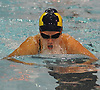 Kiani Morisi, Massapequa freshman, swims to victory in the 100-yard breaststroke event during a Nassau County girls swimming meet against host Syosset High School on Tuesday, Oct. 17, 2017. She won with a time of 1:11.91.