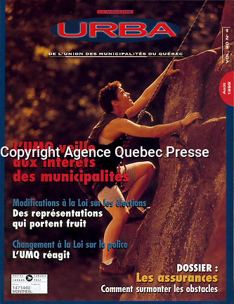 Publication  en couverture d'URBA (UMQ)<br /> <br /> <br /> Photo : Pierre Roussel