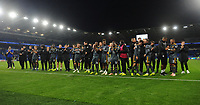 Leicester City players and staff show their appreciation for their fans support<br /> <br /> Photographer Kevin Barnes/CameraSport<br /> <br /> The Premier League -  Cardiff City v Leicester City - Saturday 3rd November 2018 - Cardiff City Stadium - Cardiff<br /> <br /> World Copyright © 2018 CameraSport. All rights reserved. 43 Linden Ave. Countesthorpe. Leicester. England. LE8 5PG - Tel: +44 (0) 116 277 4147 - admin@camerasport.com - www.camerasport.com