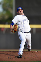 Dunedin Blue Jays pitcher Matt Boyd (31) delivers a pitch during a game against the Daytona Cubs on April 14, 2014 at Florida Auto Exchange Stadium in Dunedin, Florida.  Dunedin defeated Daytona 1-0  (Mike Janes/Four Seam Images)