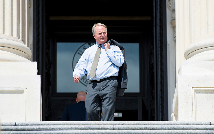 UNITED STATES - JULY 26: Rep. David Joyce, R-Ohio, walks down the House steps after a vote on Thursday, July 26, 2018. (Photo By Bill Clark/CQ Roll Call)