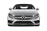 Car photography straight front view of a 2015 Mercedes Benz S-Class S550 2 Door Coupe Front View