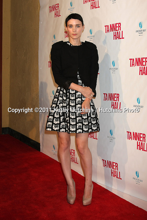 """LOS ANGELES - SEP 6:  Rooney Mara arriving at the """"Tanner Hall"""" Screening at the Vista Theater on September 6, 2011 in Los Angeles, CA"""
