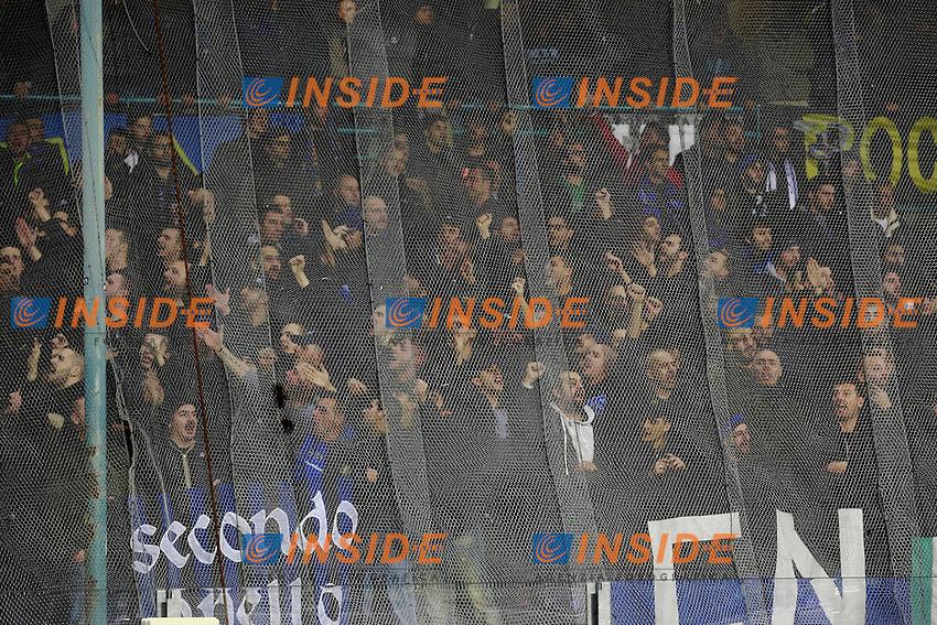 Tifosi Inter, fans, supporters  <br /> Napoli 30-11-2015 Stadio San Paolo <br /> Football Calcio Serie A 2015/2016 Napoli - Inter<br /> Foto Cesare Purini / Insidefoto