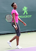 www.acepixs.com<br /> <br /> March 23 2017, Key Biscayne<br /> <br /> Venus Williams of the USA on the practice court on Day 4 of the Miami Open at Crandon Park Tennis Center on March 23, 2017 in Key Biscayne, Florida. <br /> <br /> By Line: Solar/ACE Pictures<br /> <br /> ACE Pictures Inc<br /> Tel: 6467670430<br /> Email: info@acepixs.com<br /> www.acepixs.com