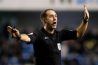 Match referee, Mr Jeremy Simpson during Millwall vs Preston North End, Sky Bet EFL Championship Football at The Den on 13th January 2018