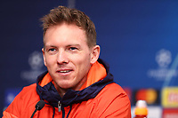 9th March 2020, Red Bull Arena, Leipzig, Germany; RB Leipzig press confefence and training ahead of their Champions League match versus Tottenham Hotspur on 10th March 20202.  Trainer Julian Nagelsmann, RB Leipzig