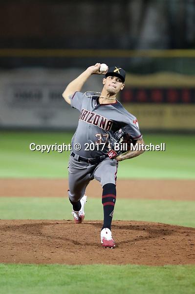 Yoan Lopez - Salt River Rafters - 2017 Arizona Fall League (Bill Mitchell)