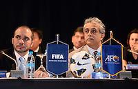 Fussball 63. FIFA Kongress auf Mauritius 2013    29.05.2013 AFC Konfederation Meeting, Praesident Scheich Salman Bin Ibrahim AL KHALIFA (re, Bahrain) und Vize Praesident H.R.H Prinz Ali BIN AL HUSSEIN (Jordanien)
