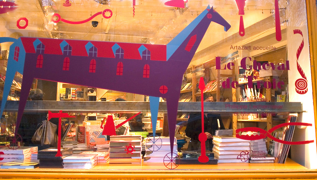 Window Display, Artazart Shop, Paris, France, Europe