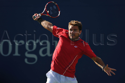05.09.2013. Flushing Medows, New York, USA. US Open Tennis tournament, Mens singles quarter final. Andy Murray versus Stanislas Wawrinka. Wawrinka won in straight sets to proceeds to the semi-finals.   Stanislas Wawrinka (Sui)