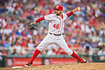 15 June 2016: Washington Nationals pitcher Oliver Perez on the mound against the Chicago Cubs at Nationals Park in Washington, DC. The Nationals defeated the Cubs 5-4 in 12 innings to take the rubber match of their 3-game series. Mandatory Credit: Ed Wolfstein Photo *** RAW (NEF) Image File Available ***