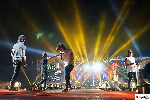 One Direction performs in Glendale, Arizona at University of Phoenix Stadium.