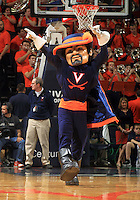 Virginia's mascot the Cavalier during the game Jan. 22, 2015, in Charlottesville, Va. Virginia defeated Georgia Tech 57-28.