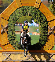 Zenith ISF, with rider Leslie Law (GBR), competes during the Cross Country test during the Fair Hill International at Fair Hill Natural Resources Area in Fair Hill, Maryland on October 20, 2012.