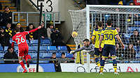 Alex Gilbey scores MK Dons opening goal during Oxford United vs MK Dons, Sky Bet EFL League 1 Football at the Kassam Stadium on 1st January 2018