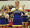 Jillian Lucito of East Meadow performs during the varsity segment of the Freeport Devil Winter Cheerleading Competition at Freeport High School on Sat, Dec. 16, 2017.