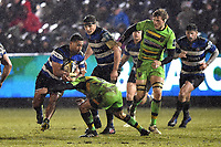 Cooper Vuna of Bath Rugby takes on the Northampton Saints defence. Anglo-Welsh Cup Semi Final, between Bath Rugby and Northampton Saints on March 9, 2018 at the Recreation Ground in Bath, England. Photo by: Patrick Khachfe / Onside Images