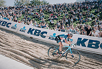 Katie Compton (USA/KFC Racing p/b Trek/Panache) in the infamous Zonhoven 'Kuil' (or 'Pit')<br /> <br /> Elite Women's Race<br /> CX Super Prestige Zonhoven 2017