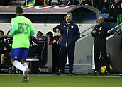 9th February 2018, The Den, London, England; EFL Championship football, Millwall versus Cardiff City; Cardiff City manager Neil Warnock shouting instructions to Junior Hoilett of Cardiff City from the touchline