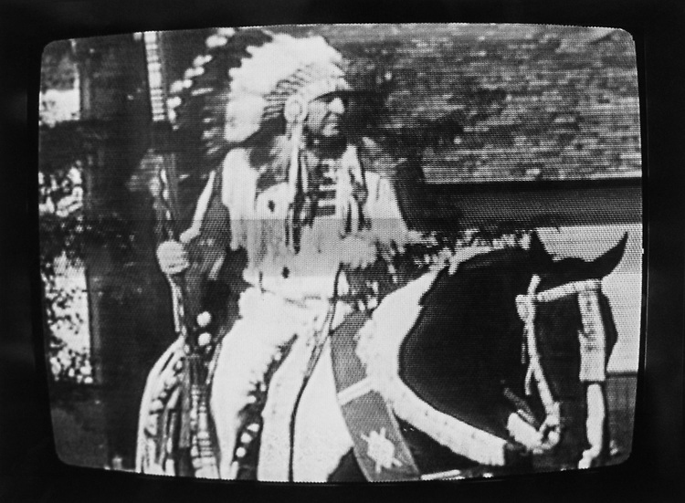 Rep. Ben Nighthorse Campbell, D-Colo., advertisement broadcasted on television while campaigning. (Photo by Maureen Keating/CQ Roll Call via Getty Images)