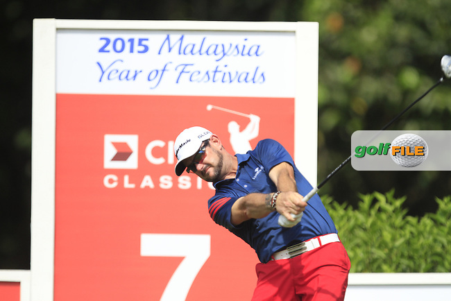 Rory Sabbatini (RSA) on the 7th tee during Round 4 of the CIMB Classic in the Kuala Lumpur Golf &amp; Country Club on Sunday 2nd November 2014.<br /> Picture:  Thos Caffrey / www.golffile.ie