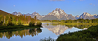 Full Moon at Oxbow Bend in Grand Teton National Park<br />