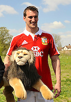 London, England.   during the 2013 British and Irish Lions tour squad and captain announcement at London Syon Park Hotel on April 30, 2013 in London, England.