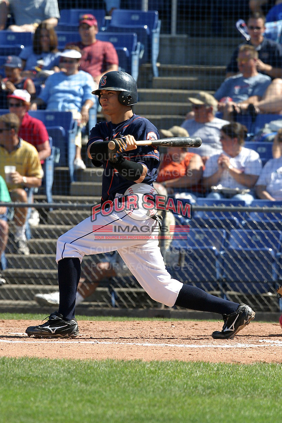 September 5, 2005:  Outfielder Wayne Lydon of the Binghamton Mets during a game at Jerry Uht Park in Erie, PA.  Binghamton is the Eastern League Double-A affiliate of the New York Mets.  Photo by:  Mike Janes/Four Seam Images