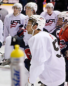 Matt Rust (US White - 12) - US players take part in practice on Friday morning, August 8, 2008, in the NHL Rink during the 2008 US National Junior Evaluation Camp and Summer Hockey Challenge in Lake Placid, New York.