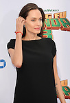 Angelina Jolie-Pitt arriving at the World Premiere of Kung Fu Panda 3 held at the TCL Chinese Theater Los Angeles Ca. January 16, 2016