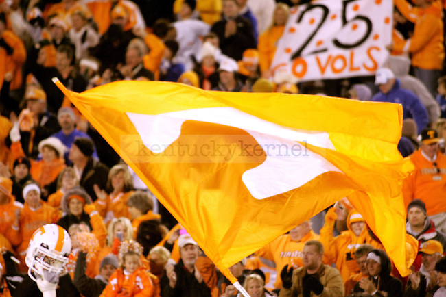 University of Tennessee Vols fans celebrate after defeating Kentucky on Saturday, Nov. 28, 2009 at Commonwealth Stadium. The Cats lost to the Vols 30-24, continuing a 25-year losing streak to Tennessee.