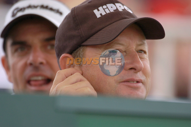 July 6th, 2006. Smurfit European Open, The K Club, Straffan, County Kildare..Ireland's Paul McGinley and Ryder Cup Europe captain Ian Woosnam at the above..Photo: BARRY CRONIN/Newsfile..(Photo credit should read BARRY CRONIN/NEWSFILE).