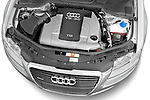 High angle engine detail of a 2010 Audi A8 4 Door Sedan 4WD