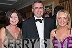 CLUB: Ann Marie and George Philips and Patsy Moyles having a great time at the Tralee Bay Sailing Club Fenit, Dinner & Dress Dance at Ballygarry House Hotel & Spa, on Saturday night..   Copyright Kerry's Eye 2008