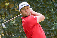 Jon Rahm (ESP) watches his tee shot on 5 during round 4 of the World Golf Championships, Mexico, Club De Golf Chapultepec, Mexico City, Mexico. 3/5/2017.<br /> Picture: Golffile | Ken Murray<br /> <br /> <br /> All photo usage must carry mandatory copyright credit (&copy; Golffile | Ken Murray)