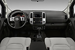 Stock photo of straight dashboard view of 2017 Nissan Frontier S-King-Cab 4 Door Pickup Dashboard