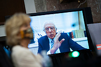 United States Senator Bernie Sanders (Independent of Vermont), speaks via teleconference during a hearing in Washington, D.C., U.S., on Tuesday, June 30, 2020. Top federal health officials are expected to discuss efforts to get back to work and school during the coronavirus pandemic. <br /> Credit: Al Drago / Pool via CNP /MediaPunch