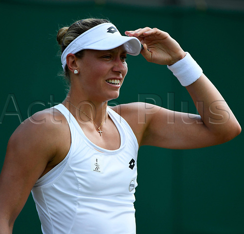 July 6th 2017, All England Lawn Tennis and Croquet Club, London, England; The Wimbledon Tennis Championships, Day 4;  Yanina Wickmayer of Belgium