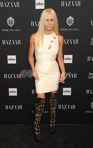 New York, NY-September 5: Donatella Versace attends Harper's Baazar Celebrates Icons By Carine Roitfeld on September 5, 2014 at the Plaza Hotel in New York City. Credit: John Palmer/MediaPunch