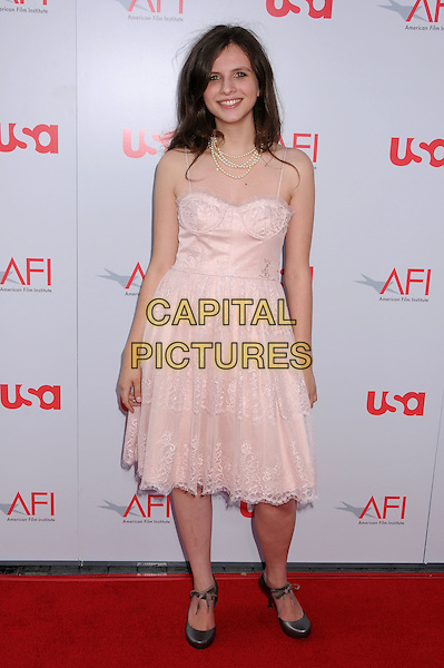 GIOVANA GASPARINI.36th Annual AFI Life Achievement Award at the Kodak Theatre, Hollywood, California, USA,.12 June 2008 .full length pale pink dress grey shoes lace gray.CAP/ADM/BP.©Byron Purvis/Admedia/Capital PIctures